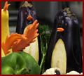 Eggplant penguins